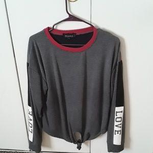 Gray LOVE sweatshirt